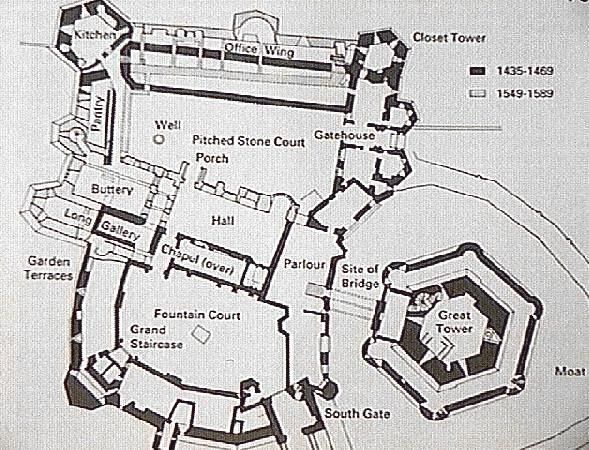Raglan Castle Ground Plan Castle Floor Plan Castle Plans Castle Layout