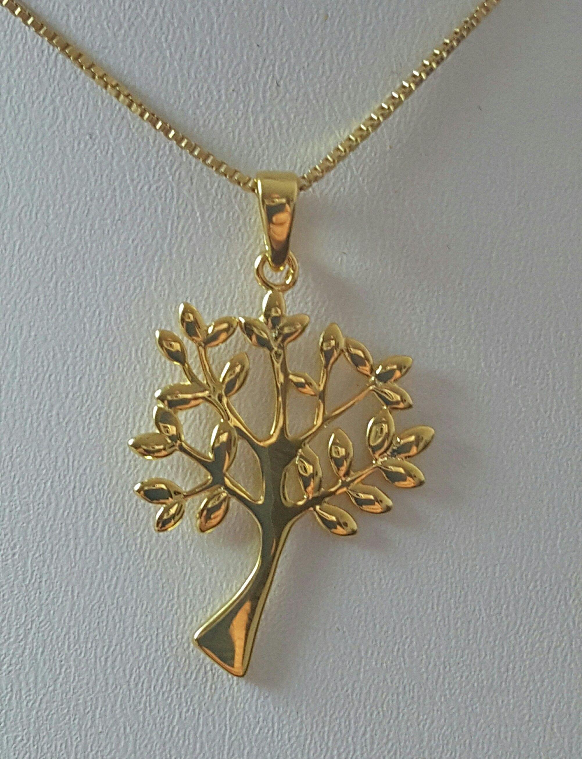 d71b1134a414 Cadena y dije árbol de la vida en oro 14k sobre plata. Referencia ...
