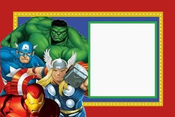 graphic about Free Printable Superhero Birthday Cards called Avengers Absolutely free Printable Package. The avengers Superhero