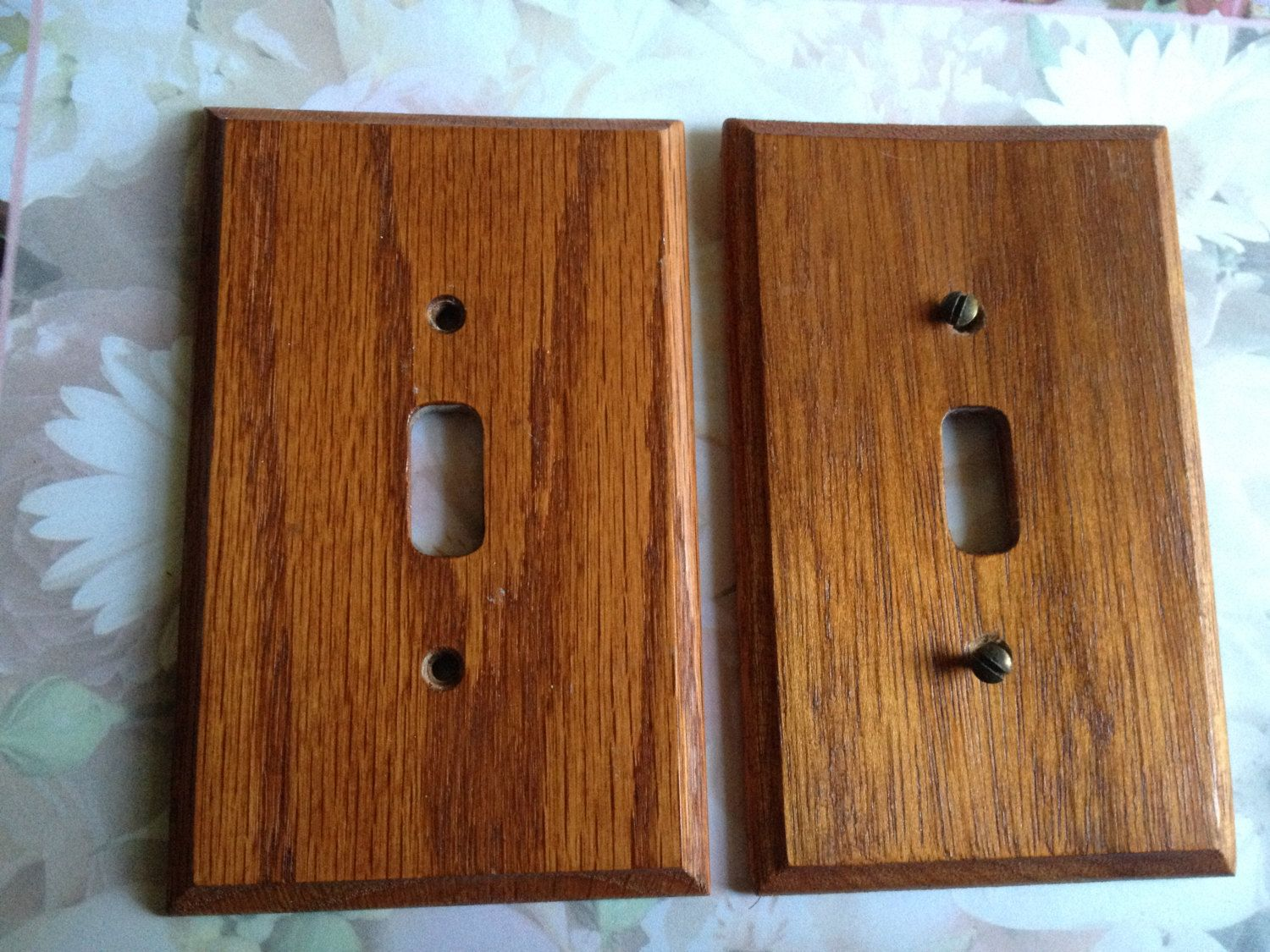 Light Switch Cover Plates Wood Vintage Cherry Retro
