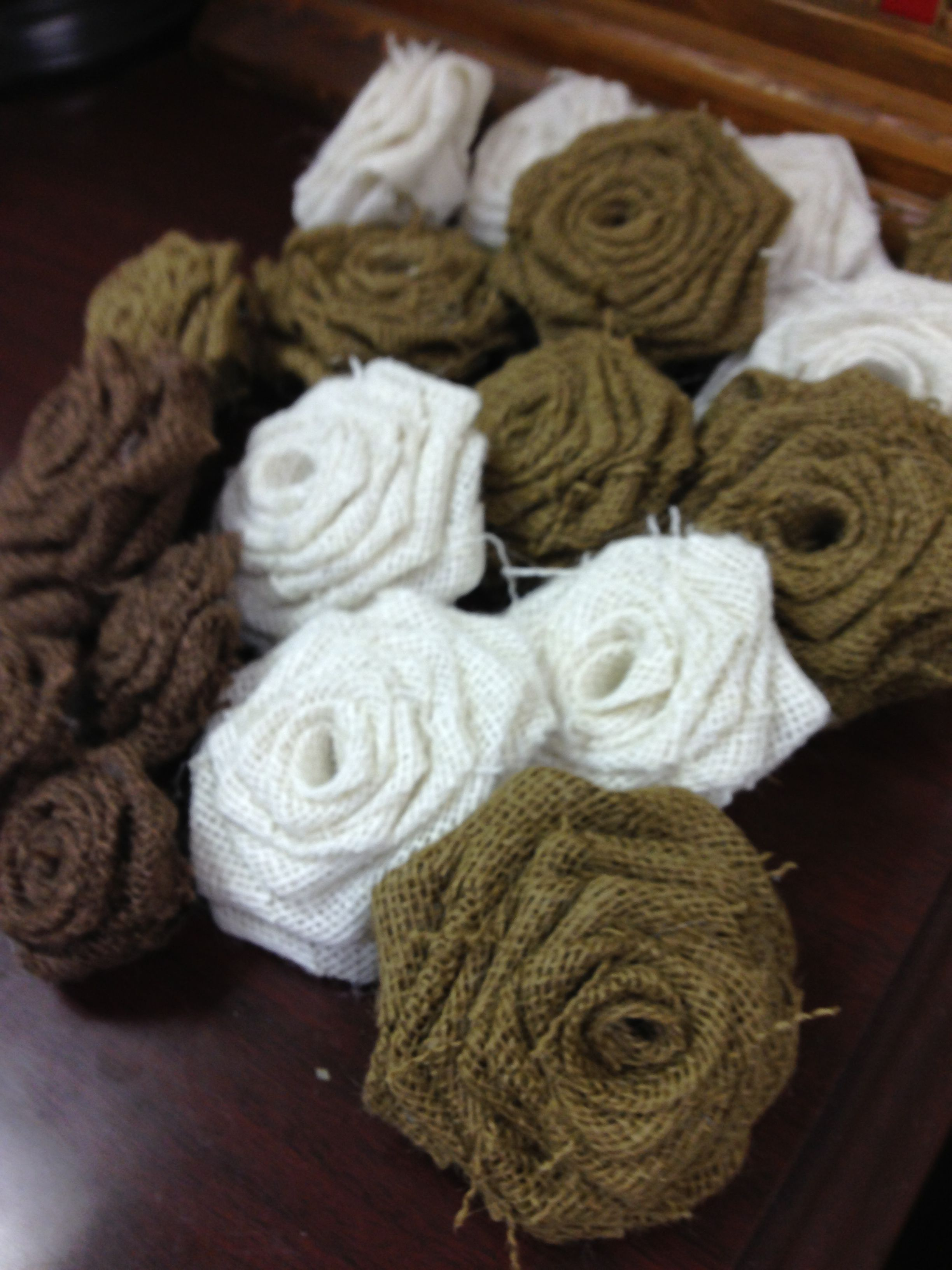 Knitted wedding decorations   colors in a set dark natural white and brown Check out my