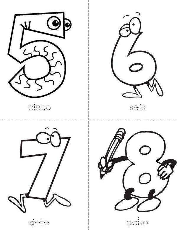 Numeros 1 10 Mini Book Vorschule Buchstaben Zahlen
