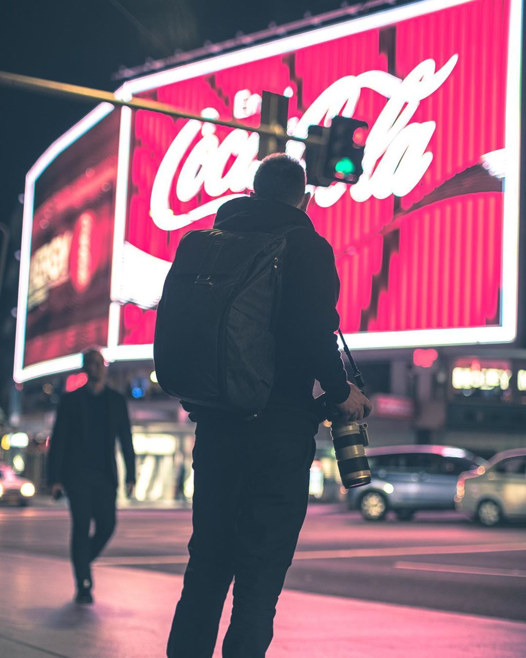 If you want it, you gotta get your ass out there, you gotta be available, you gotta be present first.  In frame: @therealnickturner . . . . . . #fujixaus #meetup #streetphotography #moodygrams #moodynight #nightphotography #night #neon #cokesign #nightphotography #ourportraitdays  #fatalframes #way2ill #urbanjungle #urbanlights