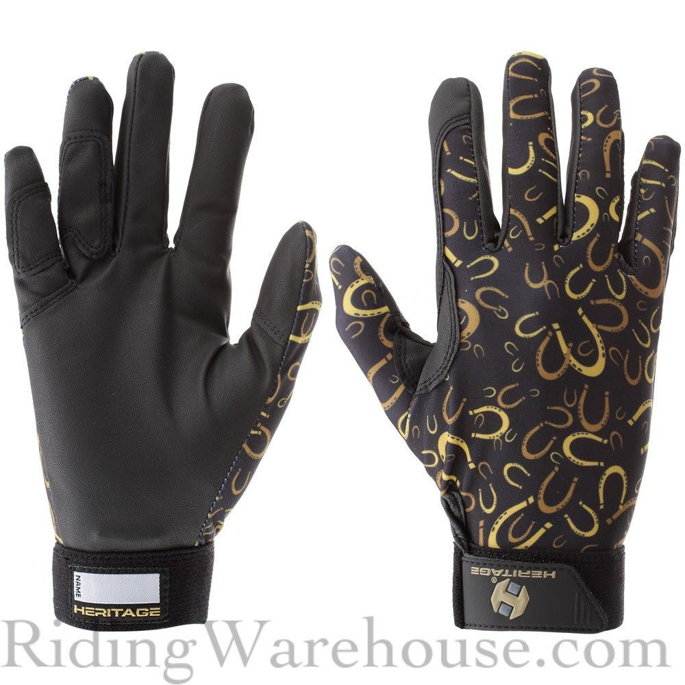 Heritage Kids Performance Riding Gloves In Print Designs Are Created For Every Aspect Of Equestrian Riding And Provide Riding Gloves Riding Equestrian Riding