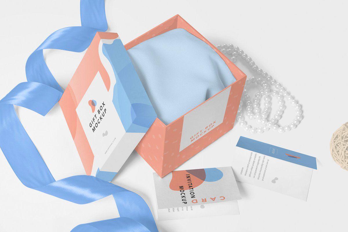 Download Luxury Gift Box Mockups Gift Packaging Design Luxury Gift Box Box Mockup