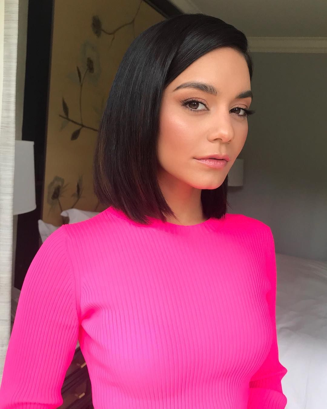 "Vanessa Hudgens on Instagram: ""ON WEDNESDAYS WE WEAR PINK!!!!! Breaking my black and white for this look �️��‍️ press day for @secondactmovie"""