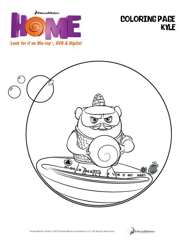 You Must See Dreamworks Animations Home Coloring Page Kyle Printable For Kids The Flying Couponer