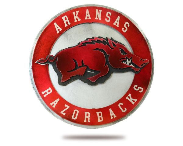 Your University Of Arkansas Logo Turned Into A Work Of Art Each Piece Of Artwork Is A Perfect Combination Of Mo University Of Arkansas Metal Artwork Arkansas