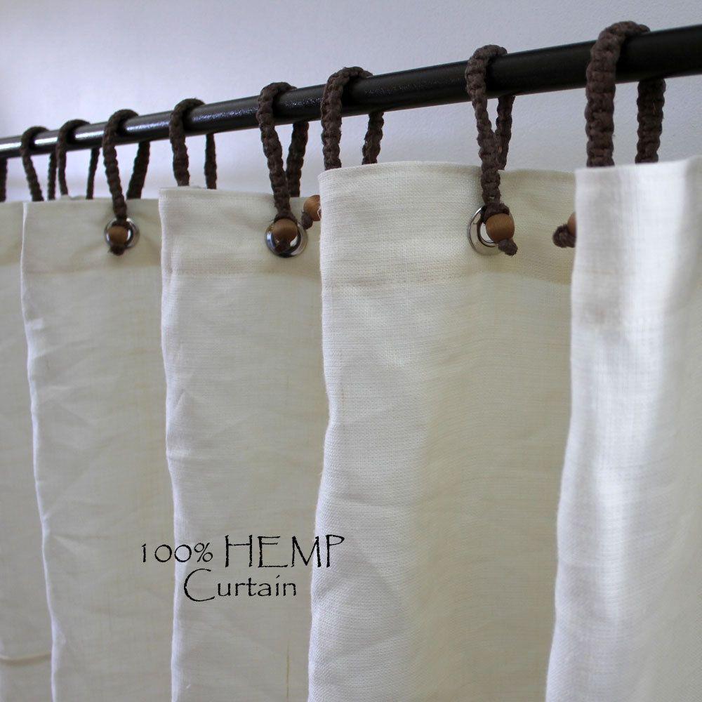 Organic Hemp Shower Curtain