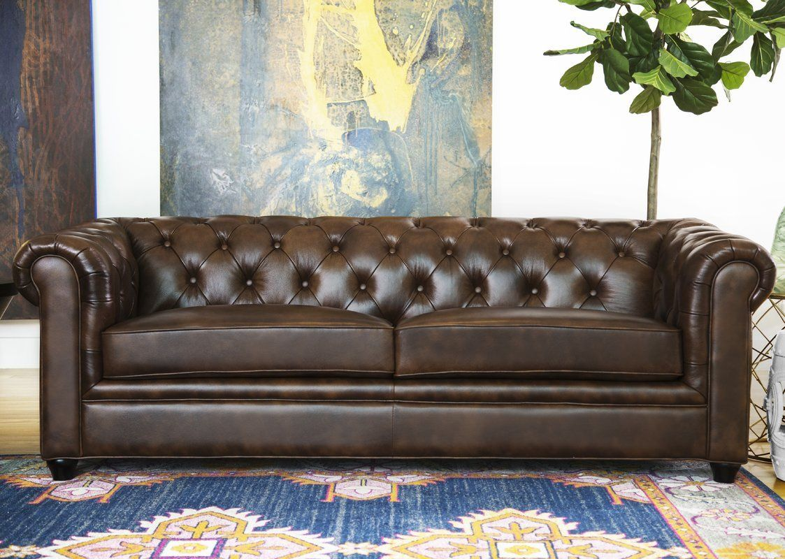 Harlem Leather Chesterfield Sofa Office Home Quality Tufted Design