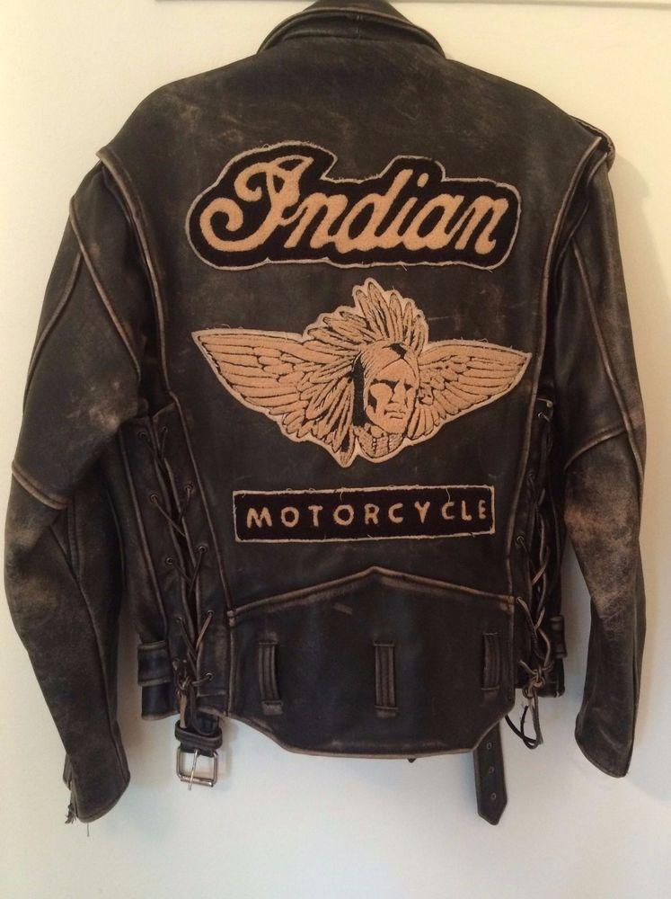 a704b860d Details about Mens Biker Motorcycle Vintage Distressed Brown Bomber ...