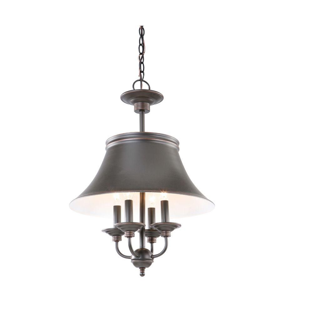 Kitchen Lighting At Home Depot: Hampton Bay Charleston Collection Oil Rubbed Bronze 4