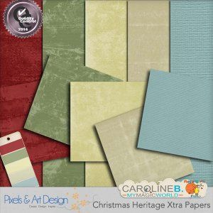 Christmas Heritage Extra Papers http://www.pixelsandartdesign.com/store/index.php?main_page=product_info&cPath=240_247&products_id=1457