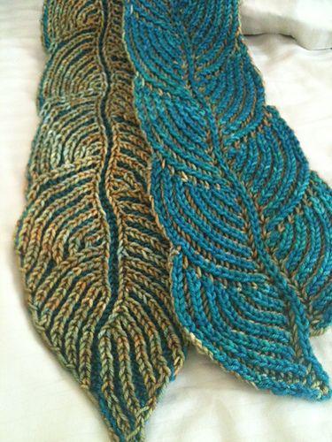 Hosta Brioche Scarf pattern by Nancy Marchant | Brioche, Stitch and ...