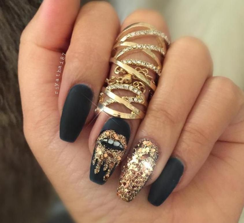 Pin by Adriana Ionascu on nails | Stiletto nails designs