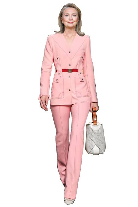 Hillary Clinton wearing Louis Vuitton Resort 2015