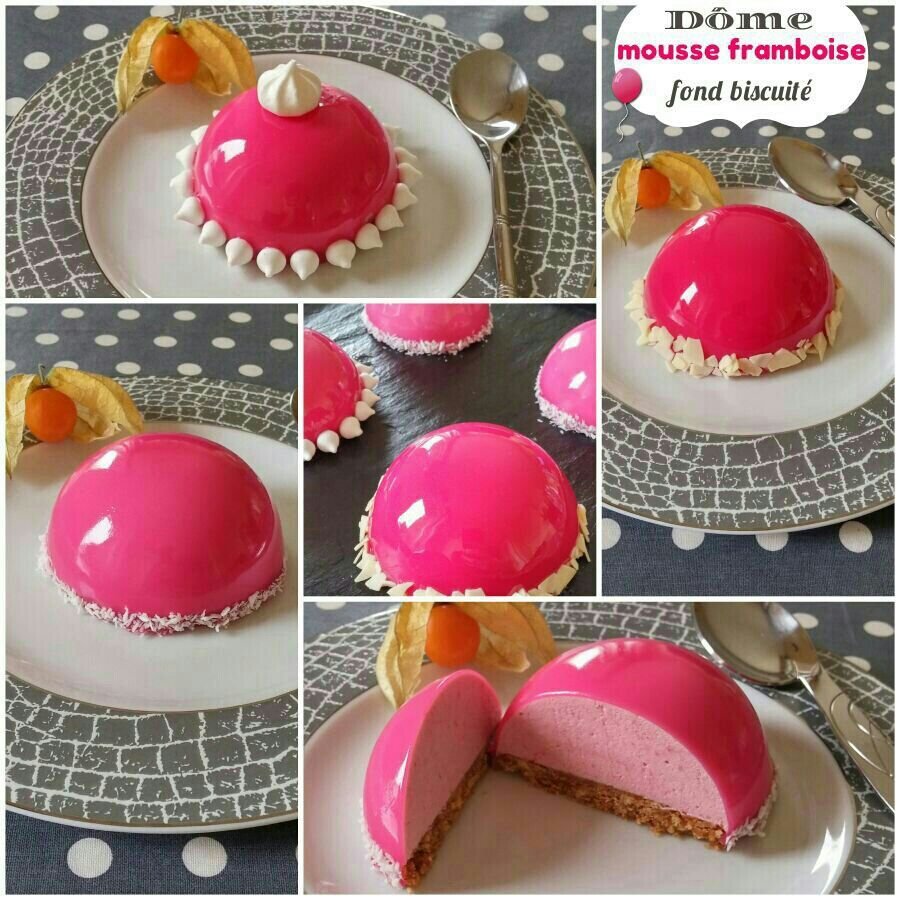 D me girly mousse framboise fond biscuit et gla age for Miroir framboise