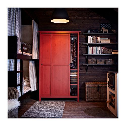 Kleiderschrank ikea hemnes  HEMNES Wardrobe with 2 sliding doors IKEA Made of solid wood ...