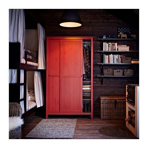 HEMNES Kleiderschrank Mit 2 Schiebetüren   Rot   IKEA
