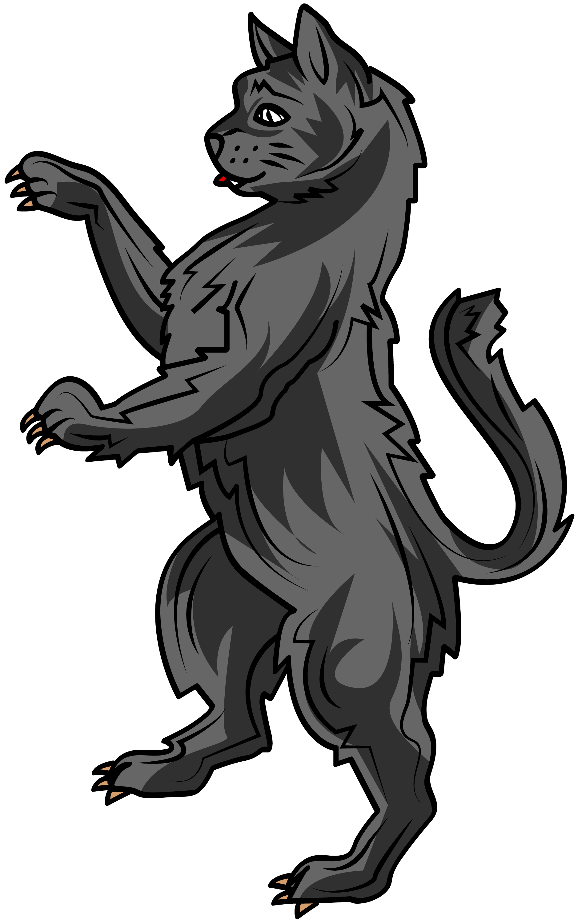 the cat in heraldry is a symbol of liberty, watchfulness ... Symbols Of Watchfulness