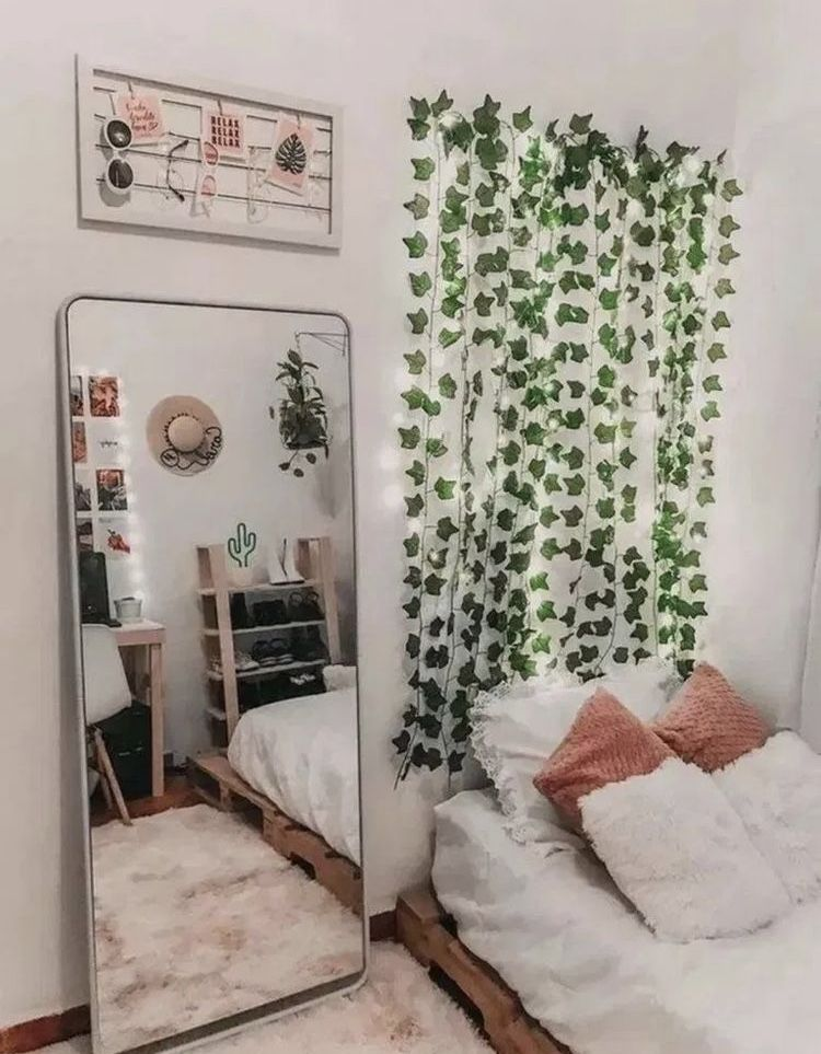 LED Wall Vine Lights in 8 | Aesthetic bedroom, Room decor, Dorm ...