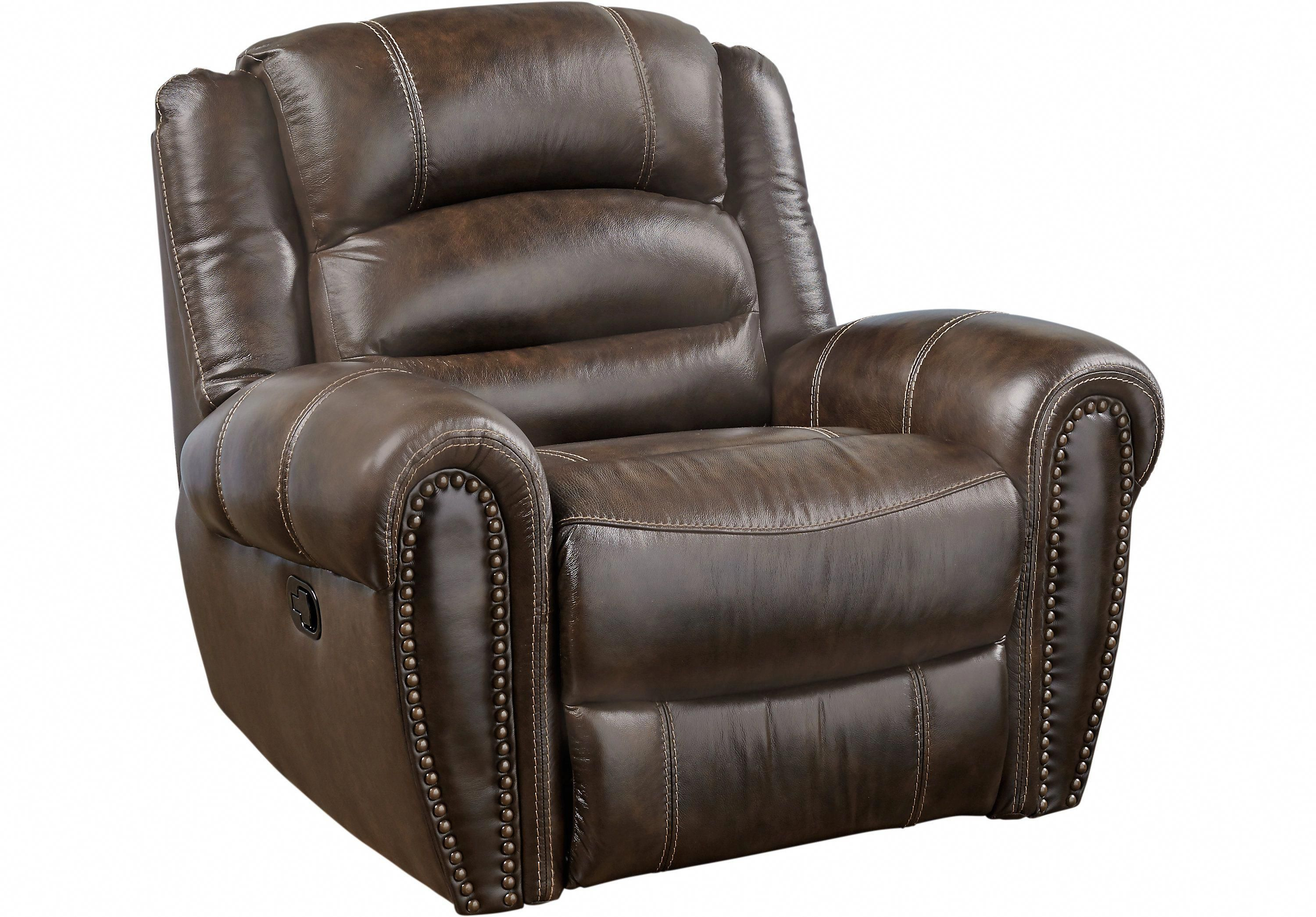 Donelle Brown Leather Glider Recliner Leather Recliners Brown Gliderreclinerchair Reclining Sectional Glider Recliner Brown Leather Recliner Chair