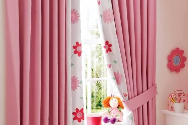 Interior, Pink Lover Summer Curtain Designs On Small Spaces Living ...