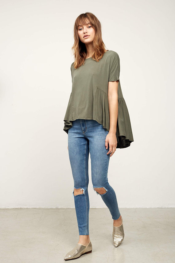 7afa0f9c32fbd Olive Green Top