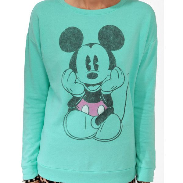 FOREVER 21 Classic Mickey Mouse Pullover ($20) ❤ liked on Polyvore