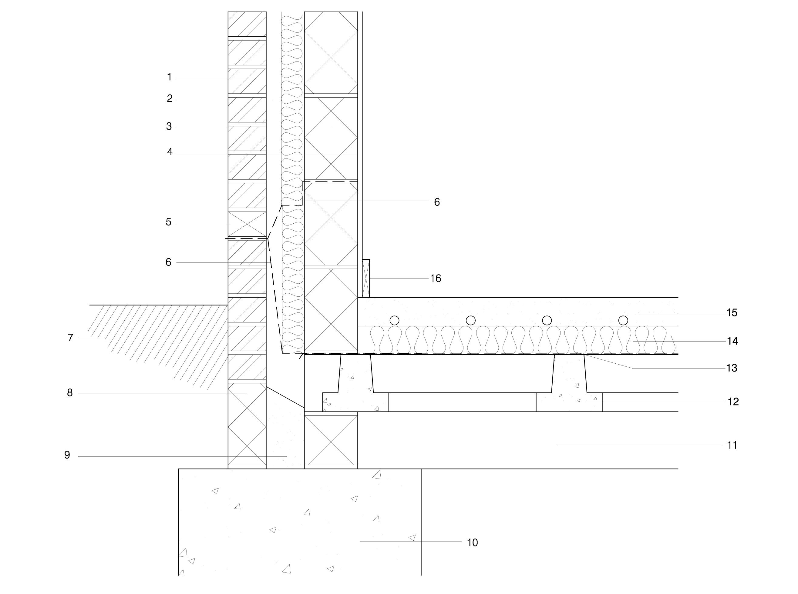 Foundation Jpg Brick Detail Roof Insulation Details Technical Drawing