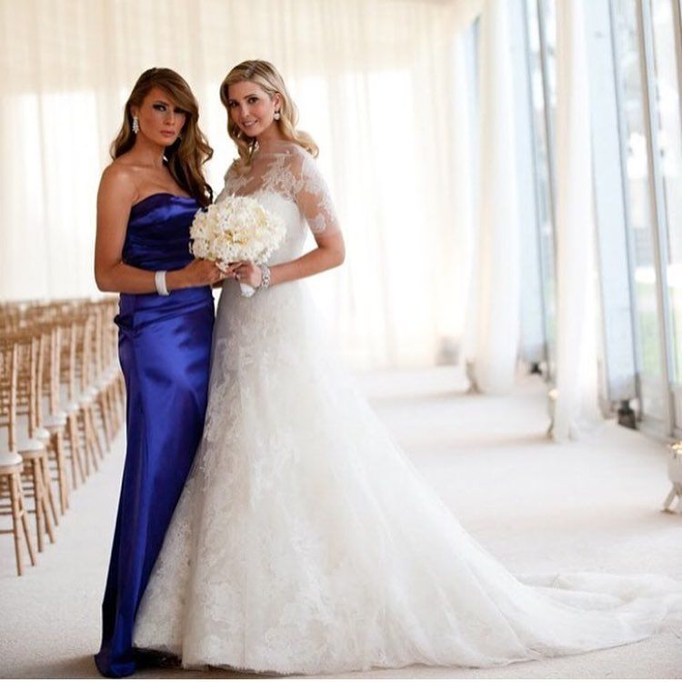 Melania Trump With Ivankatrump Ivanka Trump Wedding Trump Wedding Ivanka Trump Wedding Dress