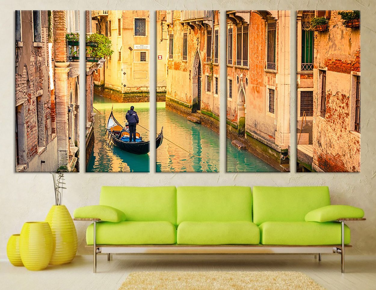 City Wall Art - Italy Venice Gondolas in Canal Wall Art Print ...