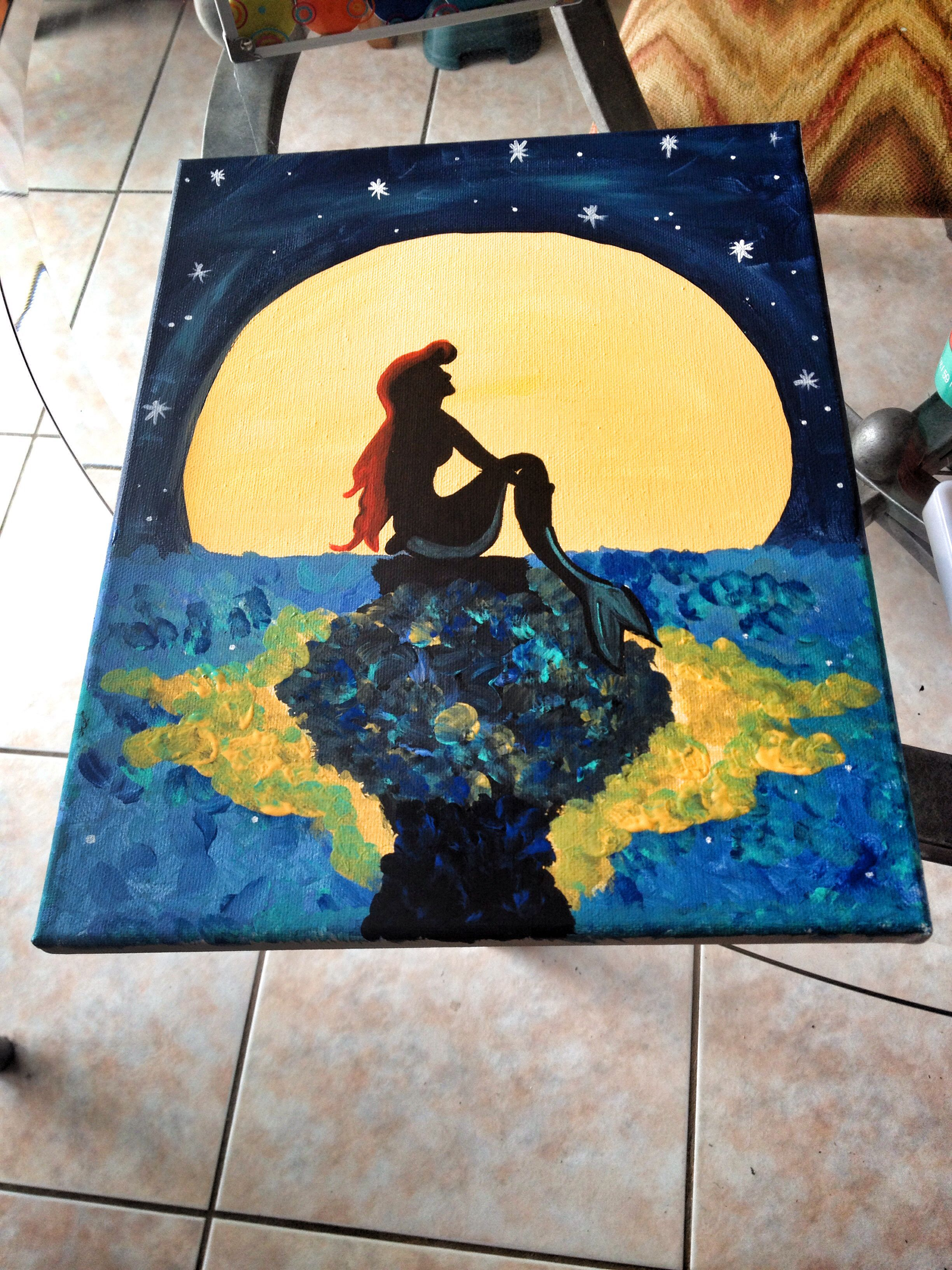 Little mermaid canvas....I may need to do this...love it...maybe a ...