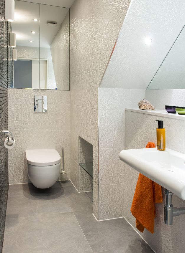 Lighting Basement Washroom Stairs: 9 Appealing Small Bathroom Ideas Under Stairs