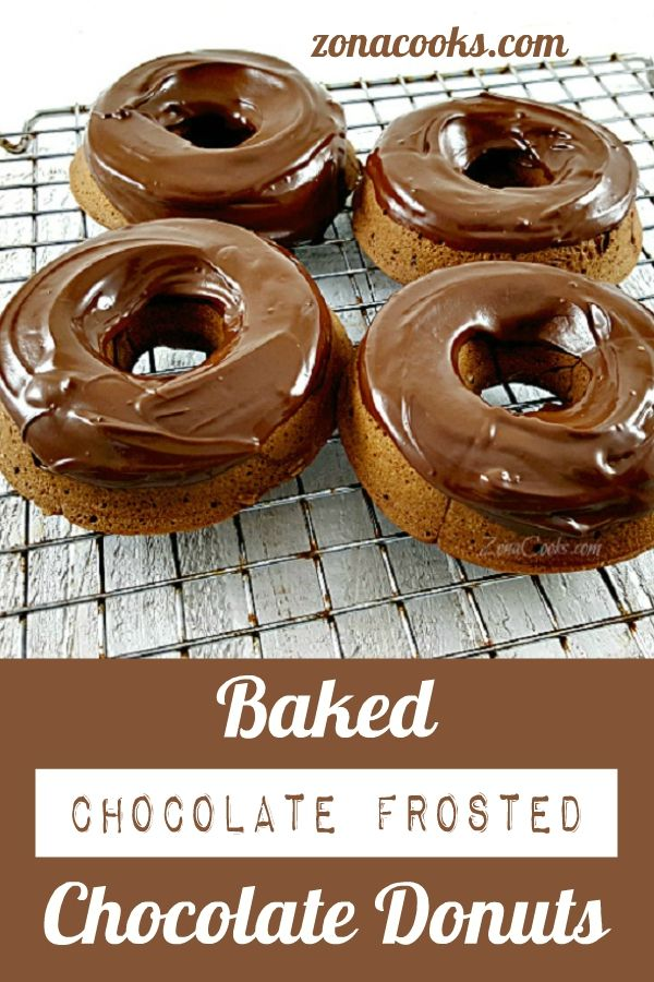 Baked Chocolate Covered Chocolate Donuts