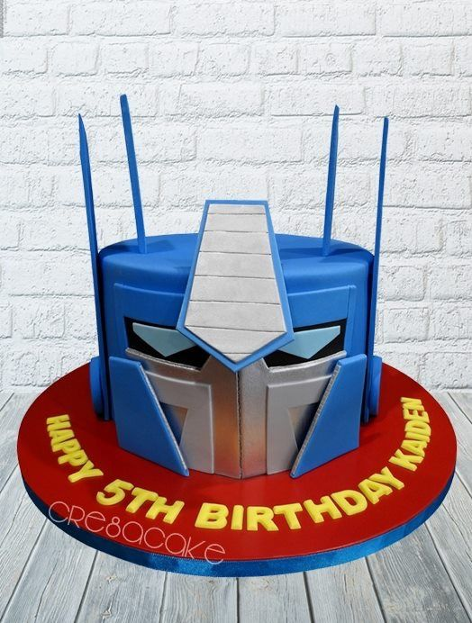 Fabulous Optimus Prime Birthday Cake With Images Transformers Birthday Funny Birthday Cards Online Alyptdamsfinfo