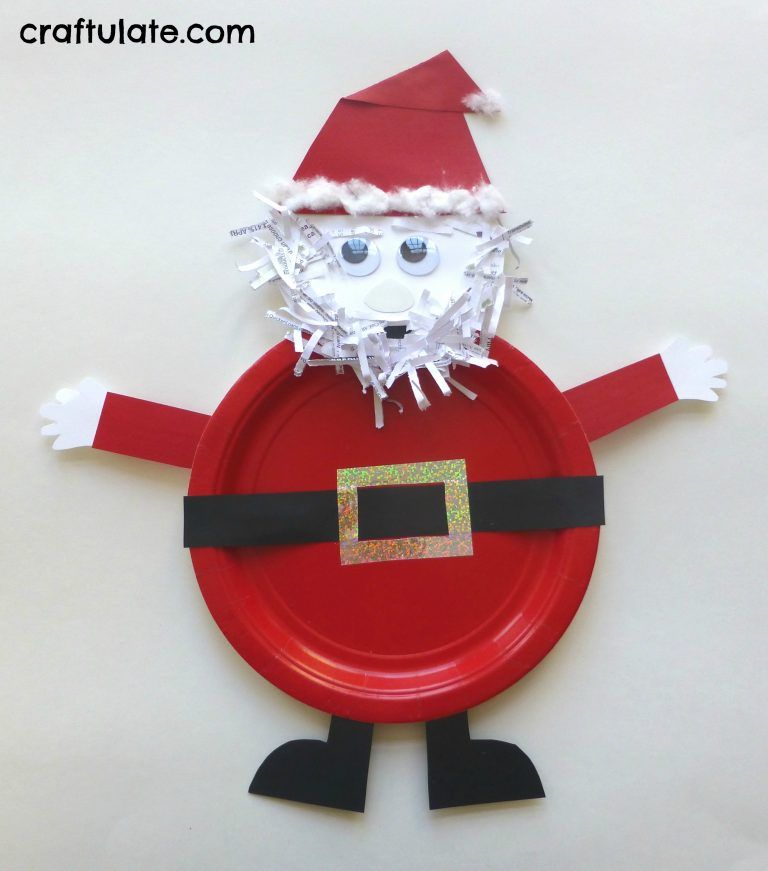 This Paper Plate Santa Craft Is Made From Cardstock A Shredded Cotton Wool Pads And Googly Eyes Great For Toddlers Preschoolers
