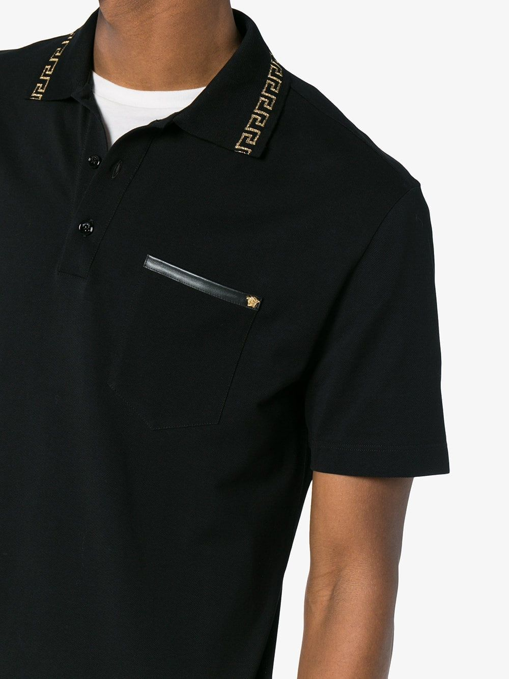 e60f37c70 Versace Jeans Tipped Polo T Shirt - raveitsafe