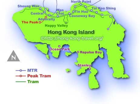 Hong Kong Island Map canada news Pinterest China travel