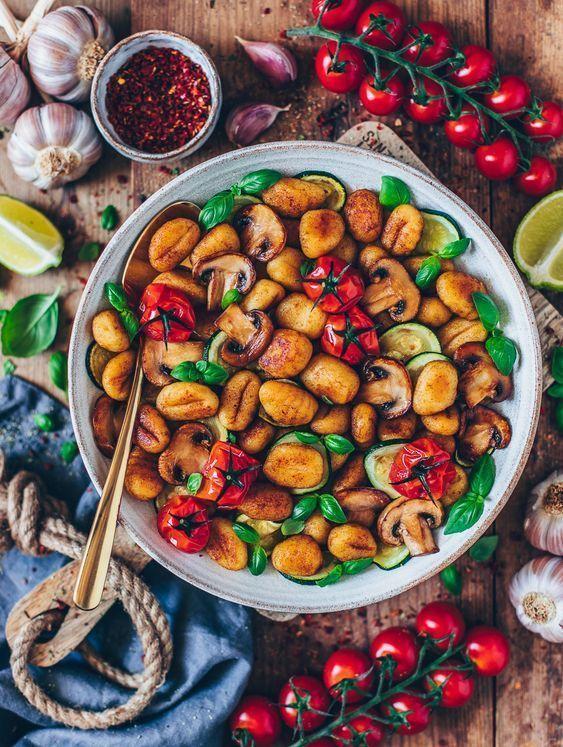 Gnocchi-Gemüse-Pfanne (vegan #veganerezepte