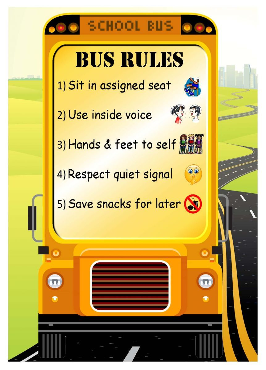 graphic regarding Printable School Bus Rules titled college bus stability laws - Google Glimpse  At the rear of Da Bus