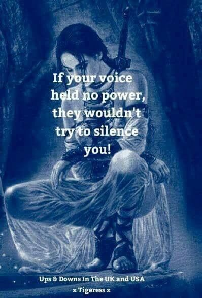 Image result for if your words had no power they wouldn't try to silence  you