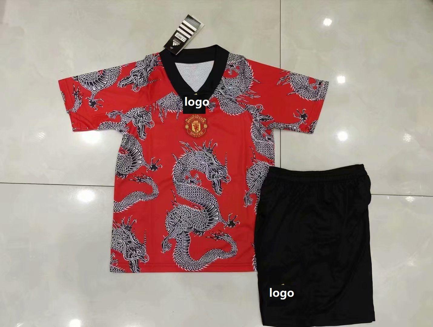 2020 21 Children Manchester United Dragon Red Soccer Uniforms Football Kits In 2020 Soccer Uniforms Football Kits Soccer