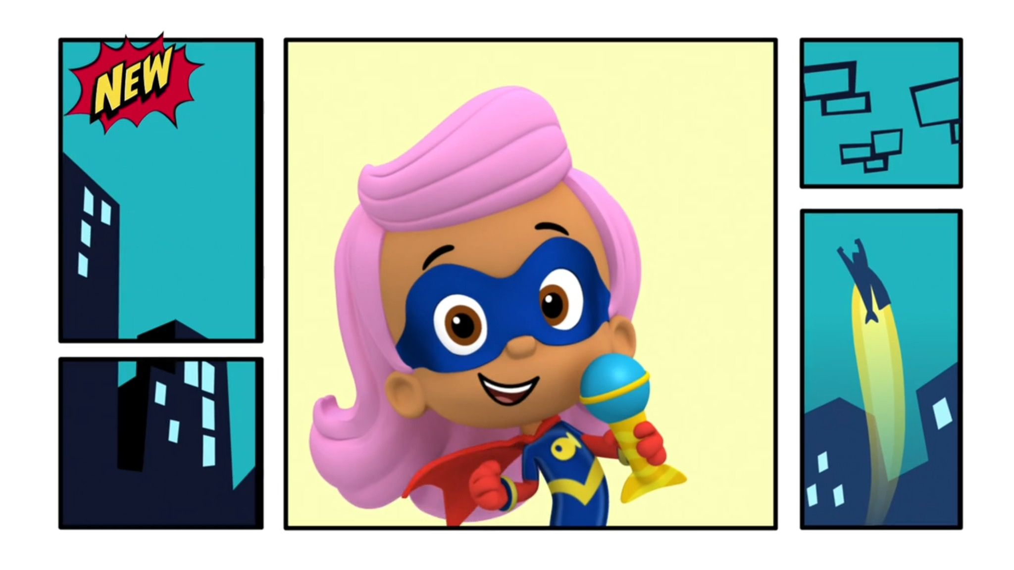 Bubble Guppies Molly Wearing Her Superhero Costume