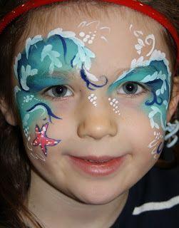 Ocean Sea Waves Starfish Face Paint
