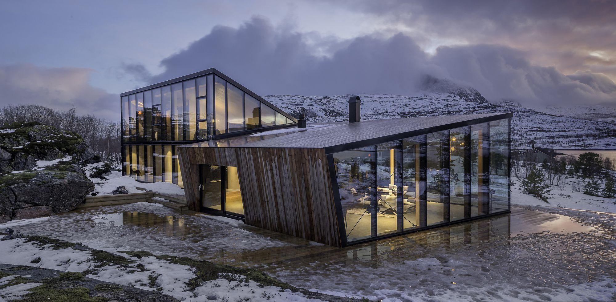 Efjord retreat cabin stinessen arkitektur projects