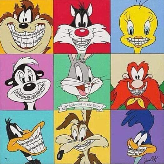 Los Looney Tunes Tambien Llevan Brackets Para Tener La Sonrisa Perfecta Anotate A Un Cita Con Nosotros 502 2261 Ortodoncista Arte Dental Humor Del Dentista