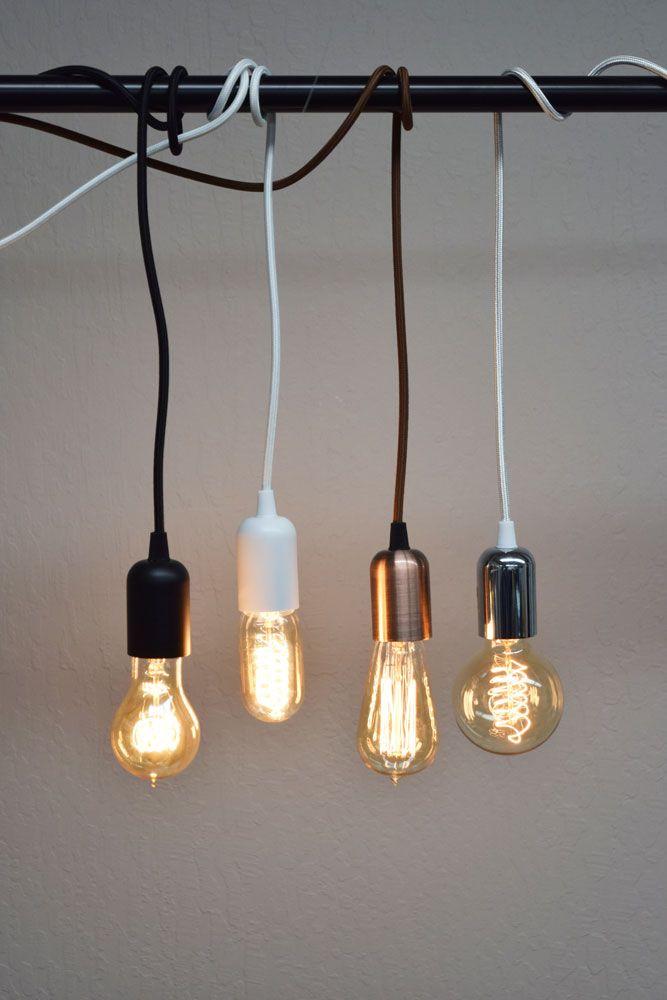 Blowout Modern Metal Silver Chrome Pendant Light Lamp Cord W