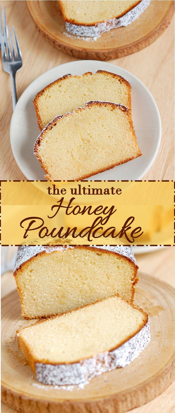 Absolutely Perfect Honey Pound Cake - Baking Sense