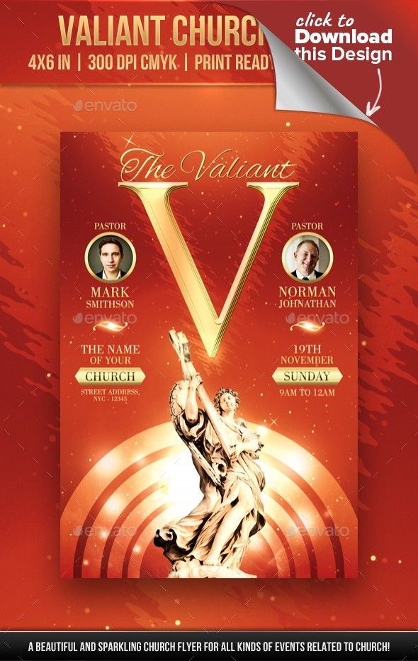Valiant Church Flyer Gospel Concert Concert Flyer And Flyer Template